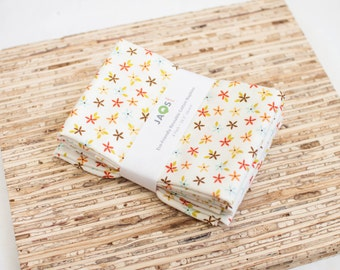 Large Cloth Napkins - Set of 4 - (N1795) - Small Flowers Modern Reusable Fabric Napkins