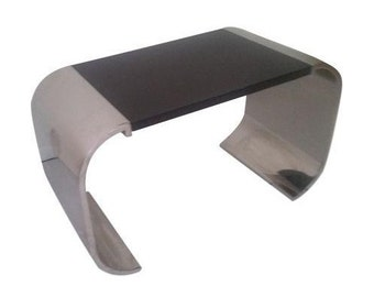 Brueton Polished Steel Side Table