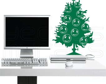Wall decals CHRISTMAS TREE holiday surface graphics interior decor by Decals Murals (12x17)