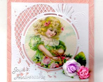 338 - Greeting card happy birthday girl