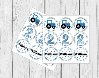 Tractor Confetti Birthday Confetti Boys Birthday Blue Tractor Set of 162 C001