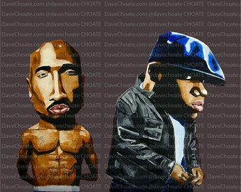 2Pac and Notorious BIG Art Photo Print. Tupac and Biggie.