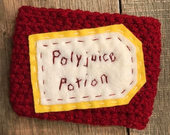 Harry Potter Polyjuice Potion Coffee Cup Cozy / Reusable Cozy / Crochet Coffee Sleeve