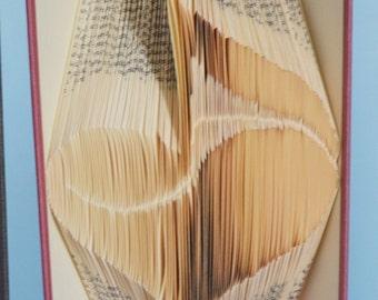 """Folded Book Art: """"Love of Music"""""""