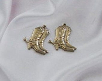 These Boots Were Made for Walking 4 Charms Antique Gold Finish  0295 agp