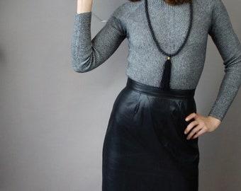 So Soft Vintage Leather Skirt