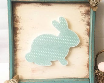 Easter Decoration - Easter Bunny - Bunny Decor - Farmhouse Easter - Easter Decor - Adorable Easter Decoration - Easter Sign - Bunny Sign