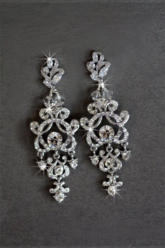Estremamente Orecchini da sposa cristallo Swarovski nozze gioielli zirconi HV26