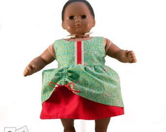 "Maddy Lou Dress for 15"" dolls, Bitty Baby, Bitty Twins, Cabbage Patch, Waldorf Dolls"