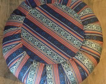 Zafu Floor Cushion - Boho Decor - Tribal fabric - 100% Cotton Filled