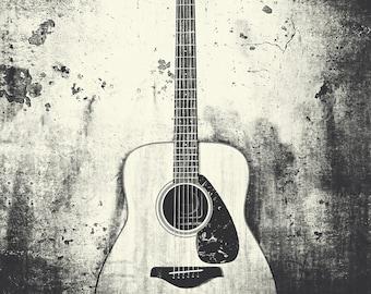 Guitar Art Music Watercolor Print Musical Instrument