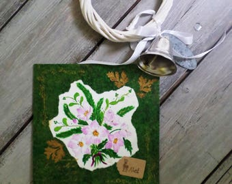 """Carte de voeux """"Des fleurs pour Noël"""""""