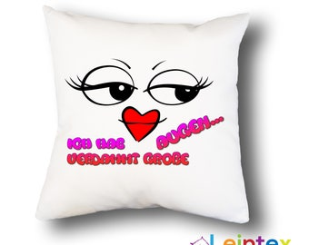 Pillowcase 40x40 pillow smiley with slogan No39