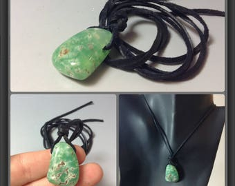 Chrysoprase necklace