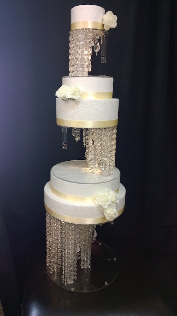 Crystal Illusion Cake Stand And Separators.