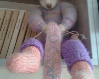 Knitting Rabbit Toy