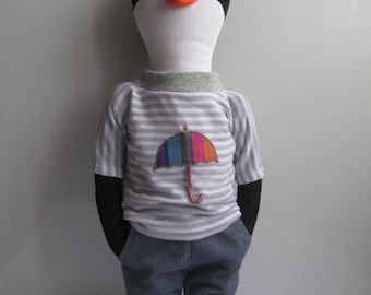 Frank the Penguin. Eco Friendly Plush Toy.