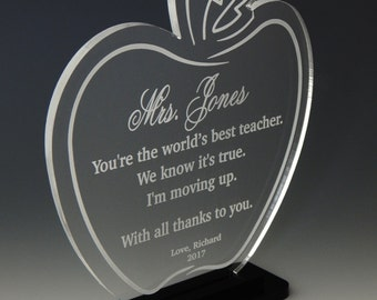 Teacher Apple Gift - End of Year Teacher Gifts Personalized - Teacher Gift Ideas - Teacher Appreciation Day Gift from Student, ATA009