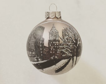 Chrysler Building NYC Hand Painted Christmas Ornament