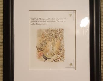 Peter Meets Mr. McGregor - The Tale of Peter Rabbit - Beatrix Potter - Aproximaitely 5 1/2 x 7 1/2 inches