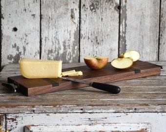 Large Cheese Board, Personalize Cutting Board, Rustic Cheese Board, Wedding Gift, Serving Board, Kitchen Decor, Anniversary Gift, Home Decor