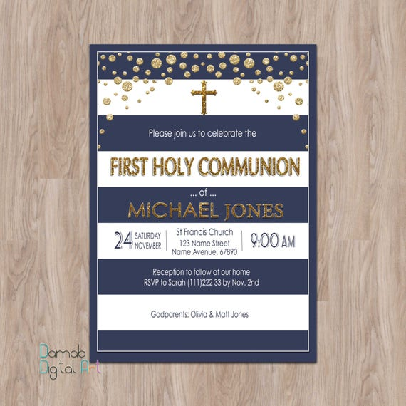 First communion invitation boy first communion invites boy stopboris Image collections