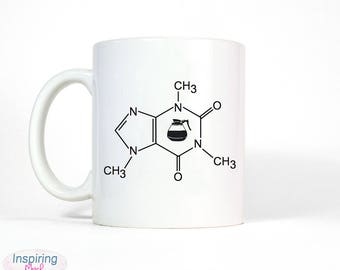 Coffee molecule | Scientist Mug Chemistry mug, Funny mug, Gifts for him, Meme mug, Unique mug, Office mug, Housewarming gift, Gifts for Her
