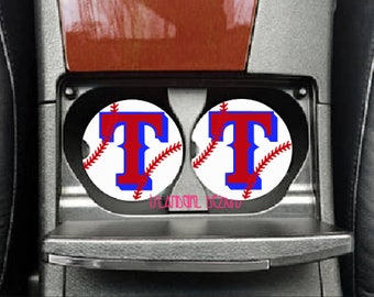 Texas Rangers Ceramic Car Coasters