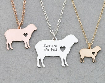 Sheep Necklace • Pendant Sheep Personalized Pet Sheep Jewelry Farm Animal Charm Cute Gift Funny Lamb Ewe Personalize Animal Jewelry