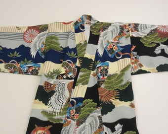 vintage childrens kimono tag size 30 made in Japan vintage kimono for kids little kids kimono childs kimono childrens kimono