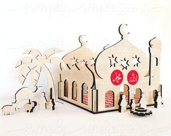 Mini Mosque. Play and Display Masjid