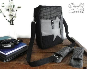 Ready to Ship-Backpack CONVERTIBLE with 2 Shoulder PADS Messenger laptop bag- Shoulder bag - Valentines Day Gift - Padded-Recycled Suit Coat