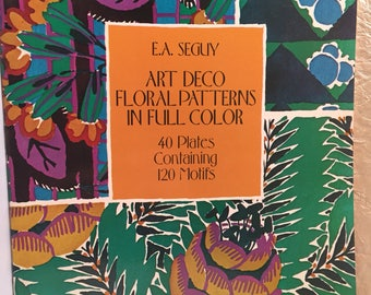 Art Deco Floral Patterns in Full Color by Seguy