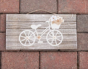 Bicycle Flower Delivery Sign
