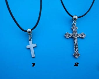 Cross pendant with free gift pouch choice of 1
