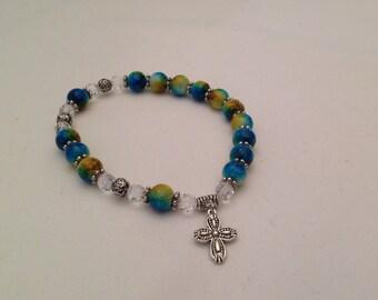 Color Splash One Decade Rosary Bracelet