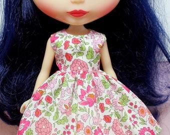 BLYTHE doll Its my party dress - LIBERTY Danjo pink flowers