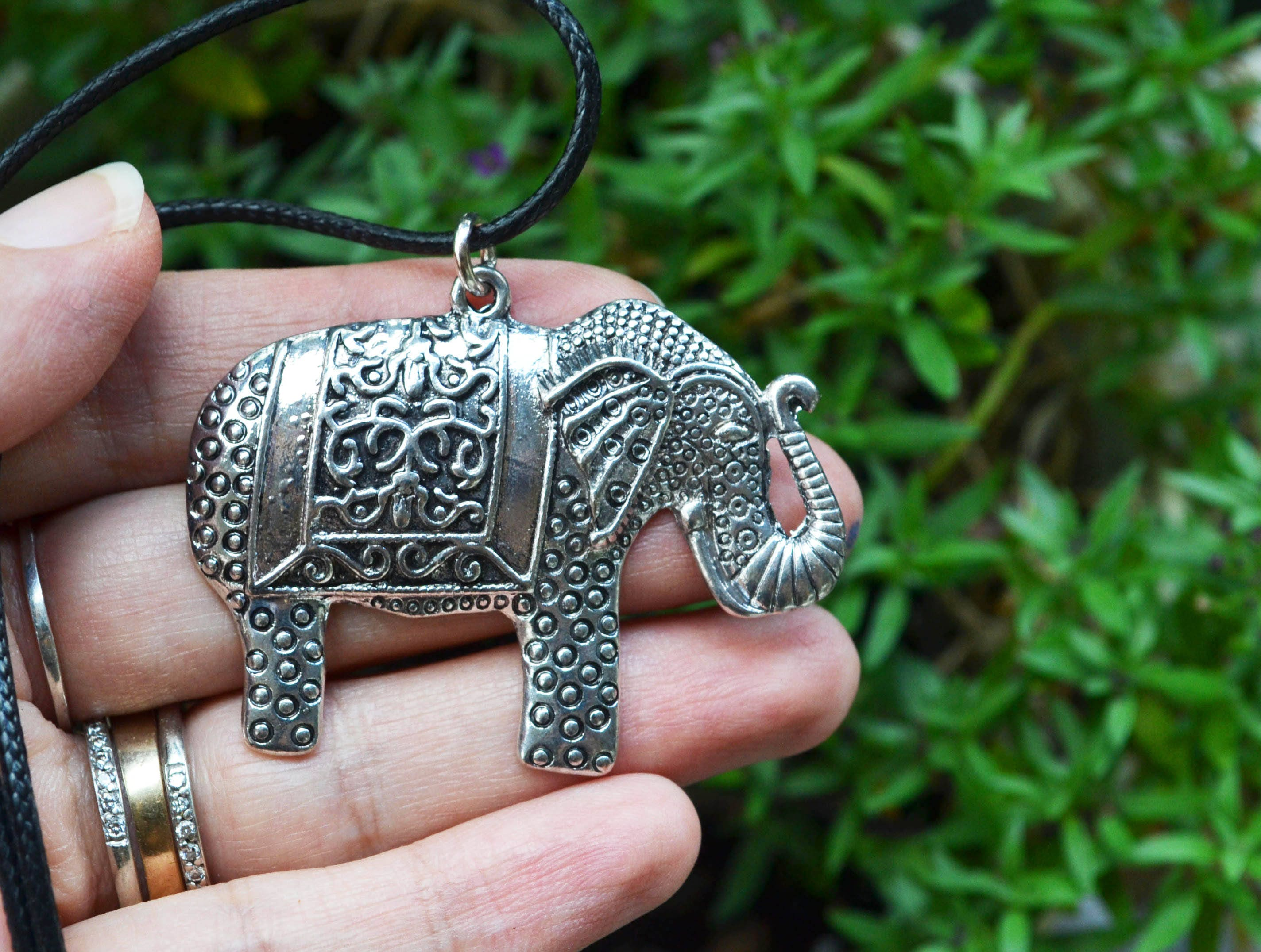 jewellery big plated with card message gold charmed charm editorial elephant in lily large necklace dream cngel