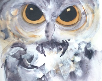Large Owl Art Print