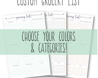grocery categories etsy
