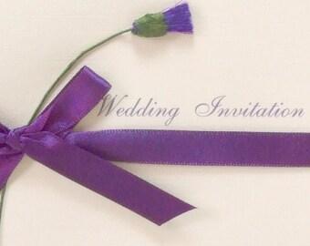 Thistle wedding invitation