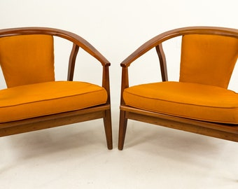 Midcentury Home Chair Company Barrel Back Lounge Chairs