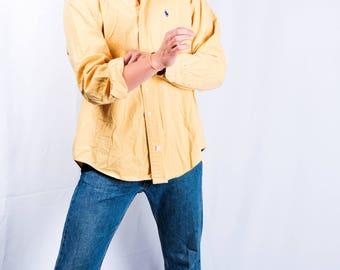 VINTAGE  Yellow Polo Oxford