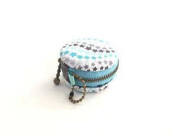 Blue Macaron coin purse