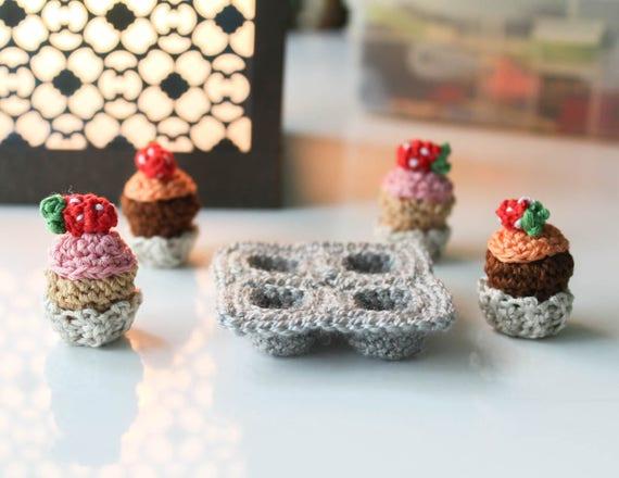 Crochet Amigurumi Cupcake Pattern Crochet Food Pdf File