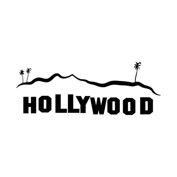 hollywood sign los angeles graphics svg dxf eps png cdr ai pdf rh etsystudio com Hollywood Lights Clip Art Hollywood Walk O