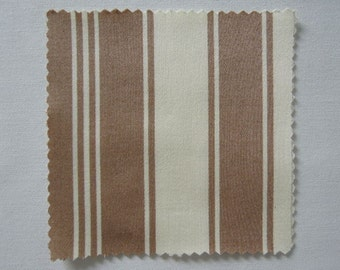 """Fabric - Tanya Whelan - Cotton Sateen- 55"""" Wide - Home Decor - French Country,  Brown Stripes, Sewing, Quiliting, Crafts"""