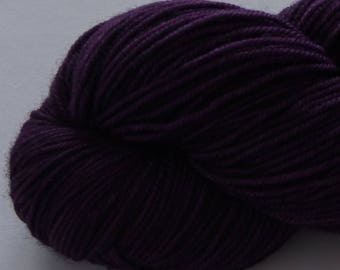 Madeleine sport weight - Concord Grape - 100% SW Merino Hand Dyed Yarn 325 yds