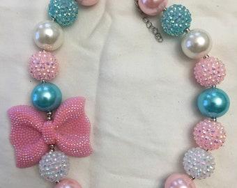 Pink/Blue Bubblegum Necklace