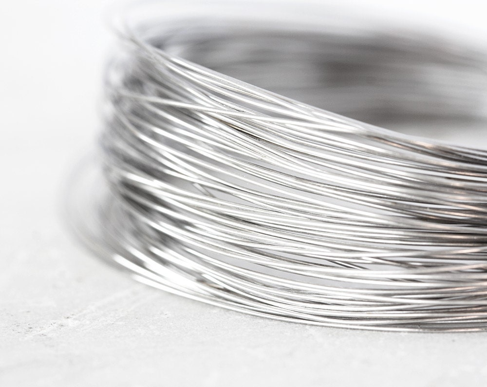 2078 Sterling silver wire 0.4 mm Soft wire 26 gauge Jewelry wire ...
